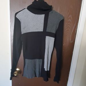 Cute black and gray sweater